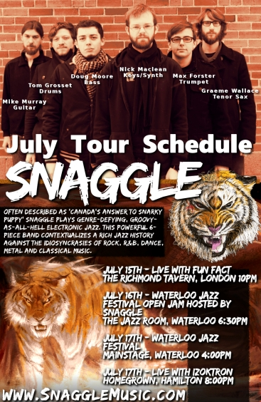 Snaggle July Tour Poster